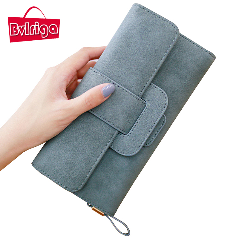 BVLRIGA Long Ladies Leather Wallet Women Wallets And Purses Wallet For Credit Card Holder Female Coin Purse Clutches Women Walet
