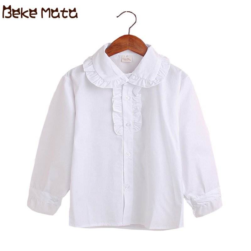 White Girls Blouses Kids Blouses For Girls Long Sleeve School Uniform 2020  Spring Lace Teenagers Girl Tops Children Shirts 5 15Y|Blouses & Shirts| -  AliExpress