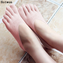 2017 New women socks cotton Slip five fingers high quality ankle with toes  femme