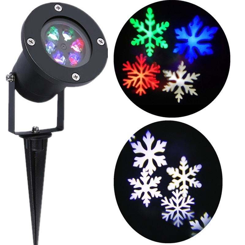 Outdoor Snowflake LED Stage Snow Lights Waterproof Projector Light Home Indoor Garden Decoration Christmas Laser Party Lamp 8 types led snowflake projector light waterproof christmas decoration lamp for home xmas lights outdoor indoor garden party
