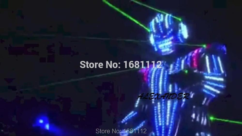2018nytt LED-kostym / LED-kläder / Ljusdräkter / LED Robotdräkter / Ljusdräkt / trajes de LED