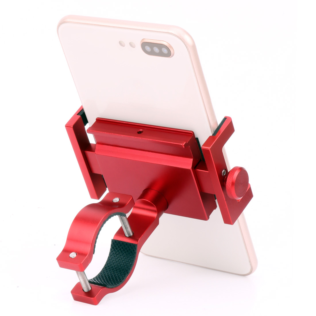 Unique 360 Rotating Bicycle Handlebar Clip Stand Mount Phone Holder CNC Aluminum GPS Navigation Bike Motorcycle Bracket in Phone Holders Stands from Cellphones Telecommunications
