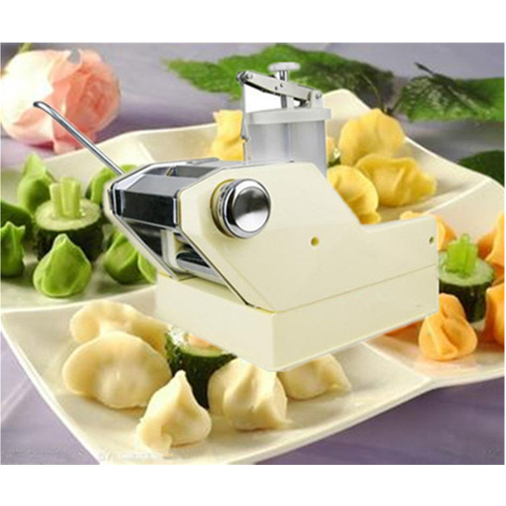 Dumpling maker high quality household hand-cranked jiaozi pelmeni making machine high quality household manual hand dumpling maker mini press dough jiaozi momo making machine