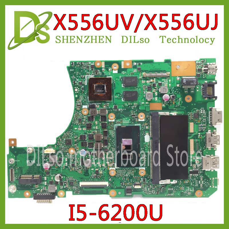 KEFU X556UJ X556UV Motherboard For ASUS X556UJ X556UV X556UF X556UR Laptop Motherboard DDR4 I5-6200U GT920/GT930/GT940 Test
