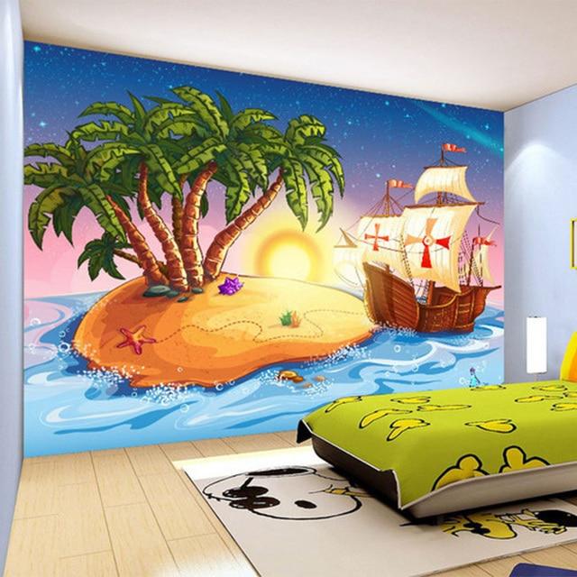 US $9.29 48% OFF|Nach 3D Tapete Cartoon Pirate Schiff Foto Wandbild  Kinderzimmer Kindergarten Schöne Decor Tapete Papel De Parede Infantil in  Nach 3D ...