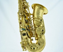 Professional Gold new Eb Alto Sax Saxophone High F# With case
