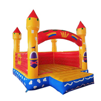 New design kids cartoo air bouncer inflatable trampoline for sale