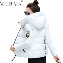 Winter Parkas Women 2019 Autumn Plus Size 5XL Coat Jacket Hooded Thick Warm Short Outerwear Female Slim Cotton Padded Basic Tops cheap voobuyla 0 85 Casual Polyester spandex Sustans Thick (Winter) Letter zipper VB2018175 Full Pockets Zippers Broadcloth