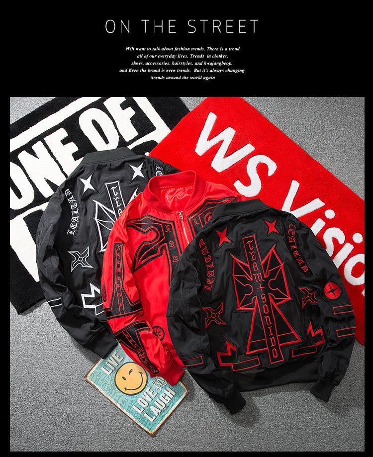 Topdudes.com - Men's Street Fashion Hip-hop Style Anarchy Aviator Bomber MA-1 Jacket