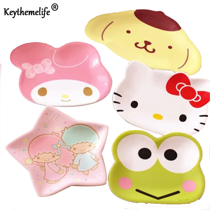 Keythemelife-Cute-Appetizers-Dish-Hello-Kitty-Frog-Star-Shape-Cat-Plate-Dog-Bowl-Cake-Display-Dish