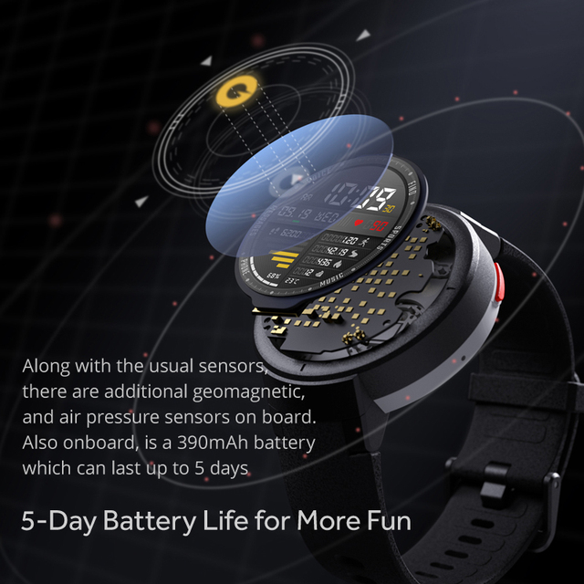 Amazfit Verge English Version Smartwatch 1.3-inch AMOLED Screen Dial & Answer Calls Upgraded HR Sensor GPS Smart Watch 4