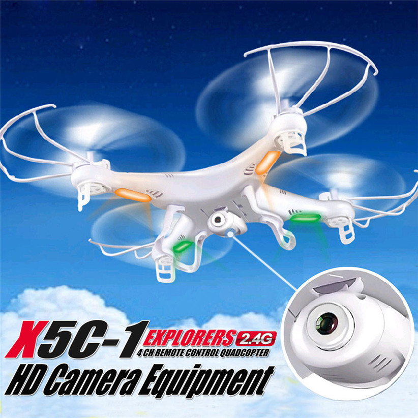 все цены на 100% Original X5C RC Helicopter Drone Quadcopter 2.4GHz 4CH 6 Axis 2MP HD Camera RTF Remote Control Professional Dron Toys