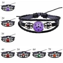 Naruto Bracelet Rinnegan-Eyes Sharingan Lover Gift Clan-Logo Cosplay Uzumaki Eye-Black