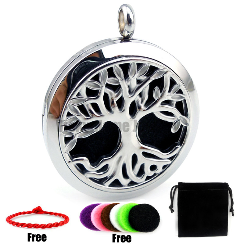 Round Silver Tree (30mm) Palte Casting Perfume Stainless Steel Essential Oils Diffuser L ...