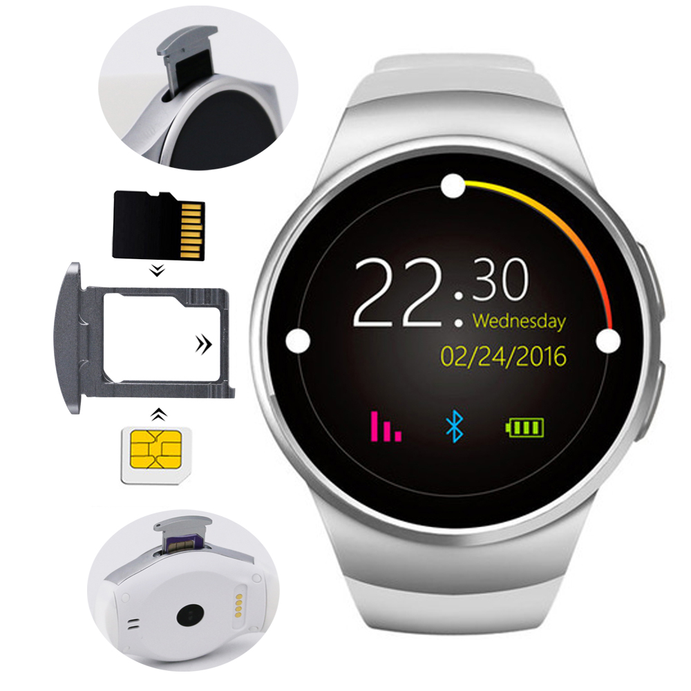 Sport Fashion 2G Smart Wristband Watch Phone SIM TF Card Slot with Pedometer Sleep Heart Rate Monitoring Bluetooth 4.0 KW18 s99a 1 33 inch touch screen 3g talk smart watch phone bluetooth 4 0 android 5 1 heart rate monitoring sim card smart watch