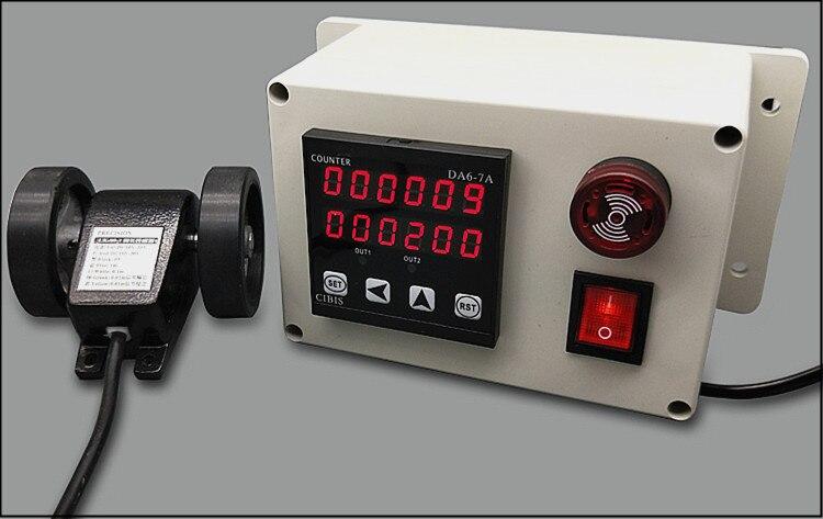 medidor de controle da medida do comprimento do medidor do rolo