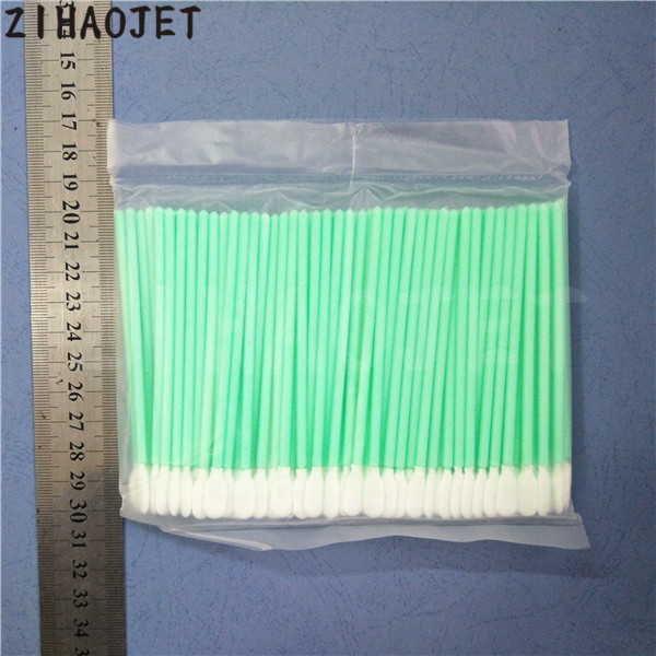 Printer Supplies Printer Parts 200pcs/lot 10mm Long Printhead Cleaning Swab Cloth Head For Epson Dx2 Dx4 Dx5 Tx800 /pcb Board Clean Stick Small Area Clean Kit For Sale