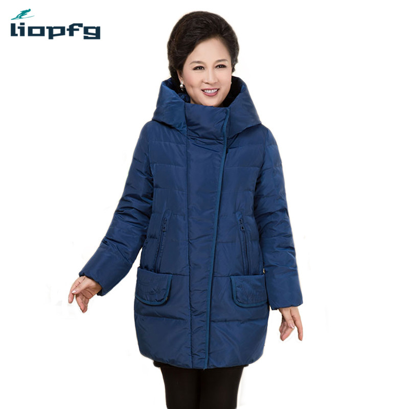 2017 Winter New Mother Loaded Coat Jacket Large Size Women Loose High Quality Cotton Coat Female Thickening Warm    WM437 2017 winter women plus size in the elderly mother loaded cotton coat jacket casual thickening warm cotton jacket coat women 328