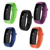 Bluetooth 4 1 Smart Bracelet Watch Heart Rate Monitor Pedometer Calls Reminder Waterproof PC Touch Sreen