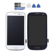 Für SAMSUNG GALAXY S3 S4 S5 LCD Display Touchscreen Digitizer Assembly Ersatz Glas Schutz Schwarz Gold Weiß