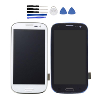 For SAMSUNG GALAXY S3 S4 S5 LCD Display Touch Screen Digitizer Assembly Replacement Glass Protective Black