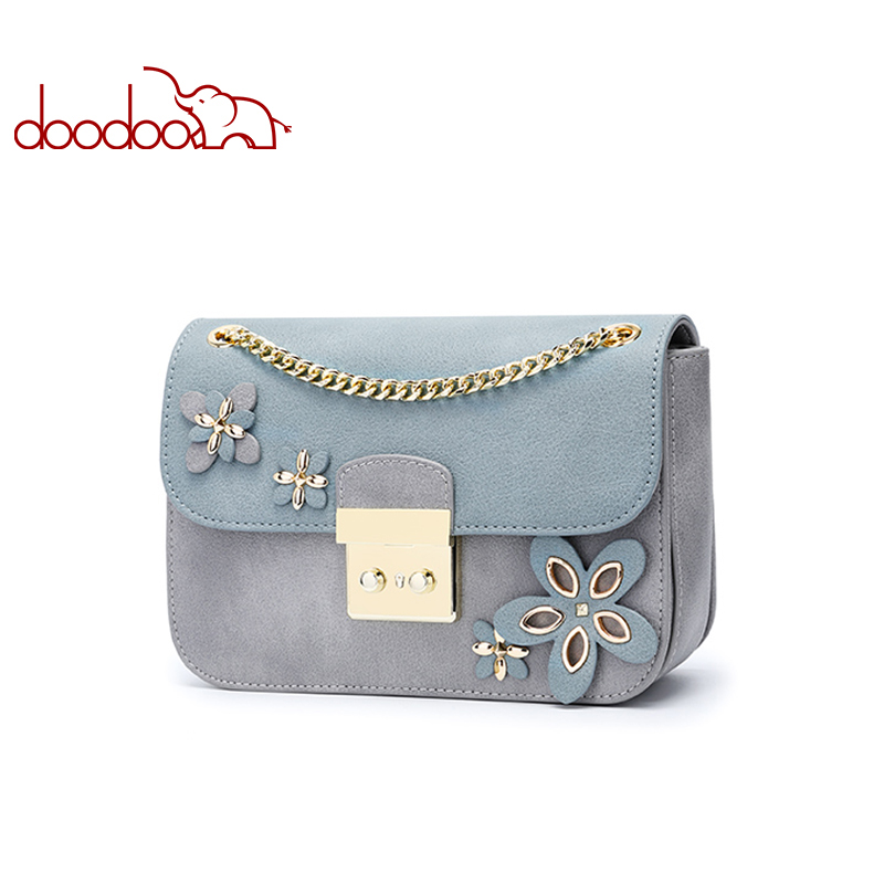 DOODOO Women Bag Female Shoulder Crossbody Bags Ladies Artificial Leather Flower Decoration 2019 New Chain Small Messenger BagsDOODOO Women Bag Female Shoulder Crossbody Bags Ladies Artificial Leather Flower Decoration 2019 New Chain Small Messenger Bags