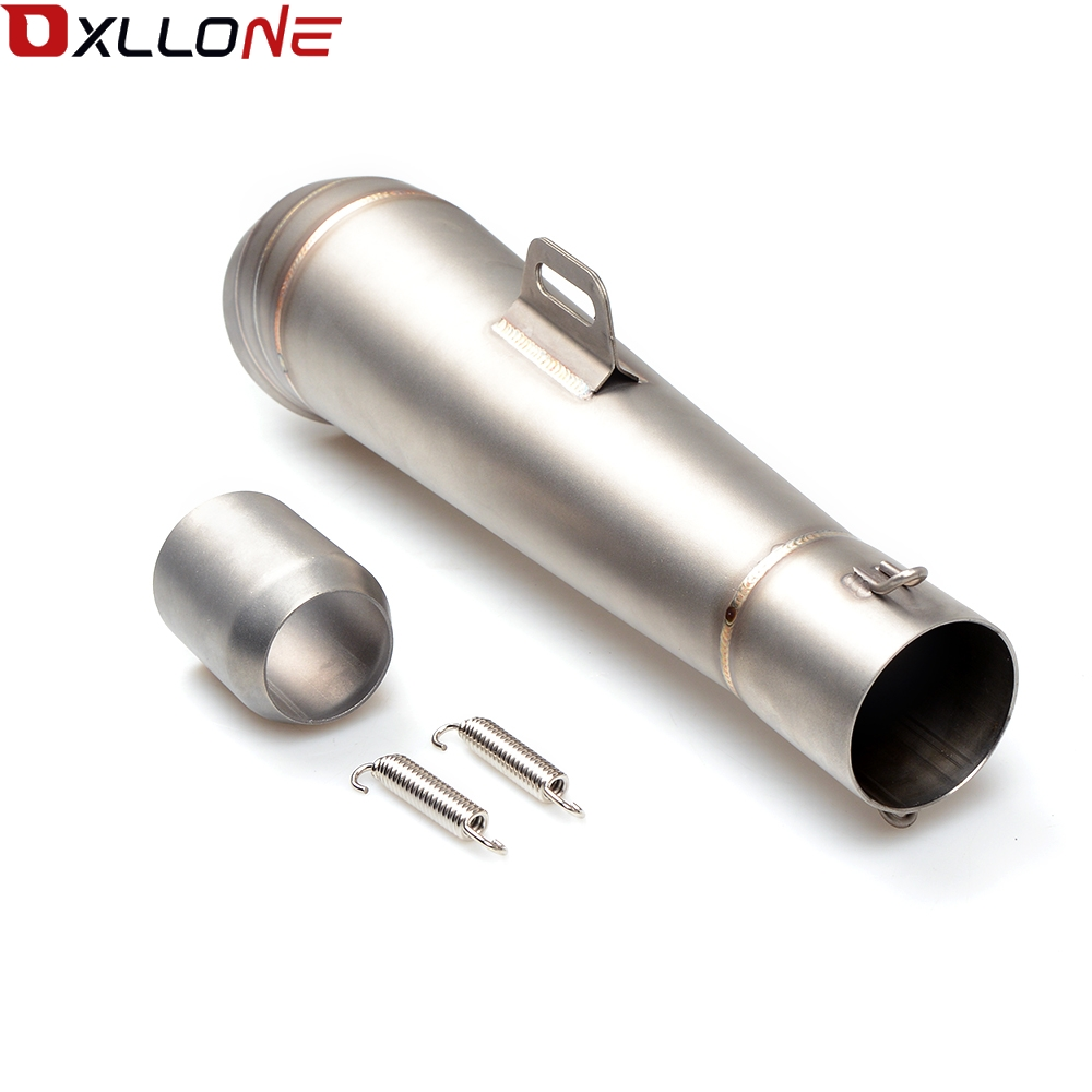 Image 4 - Universal 51MM Motorcycle Exhaust Pipe With Muffler Moto Bike Pot Escape For for honda CG125 CB190R 599 CB300F CB500F ABS-in Exhaust & Exhaust Systems from Automobiles & Motorcycles