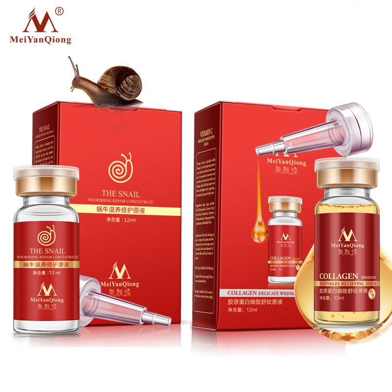 Face Care Anti Aging Remove Wrinkles Serum Moisturizing Argireline Snail Nourishing Concentrate Firming Skin Whitening Skin Care