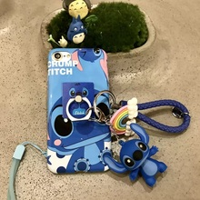 3 in 1 Cute Cartoon Stitch Dirt-resistant Hot Sale Phone Case Soft Cover Buckle Ring Vocal Pendant For Iphones 6/6s Plus 7 7plus