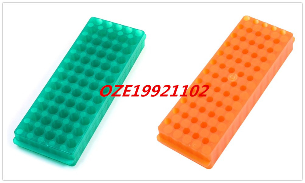 Double Sided Green Polypropylene 60 Position Centrifuge Tube Pipette Vial Stand 100pcs 2ml polypropylene pp centrifuge tubes