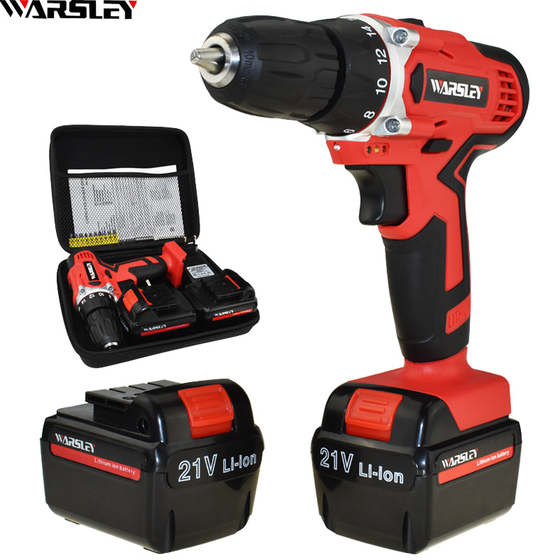 New Style 21v Electric Screwdriver Electric Drill Screwdriver Cordless Electric Mini Batteries Screwdriver Power Tools Drill handheld electrical drill charger electric grinder mini electric screwdriver power tools with power wire and screwdriver set