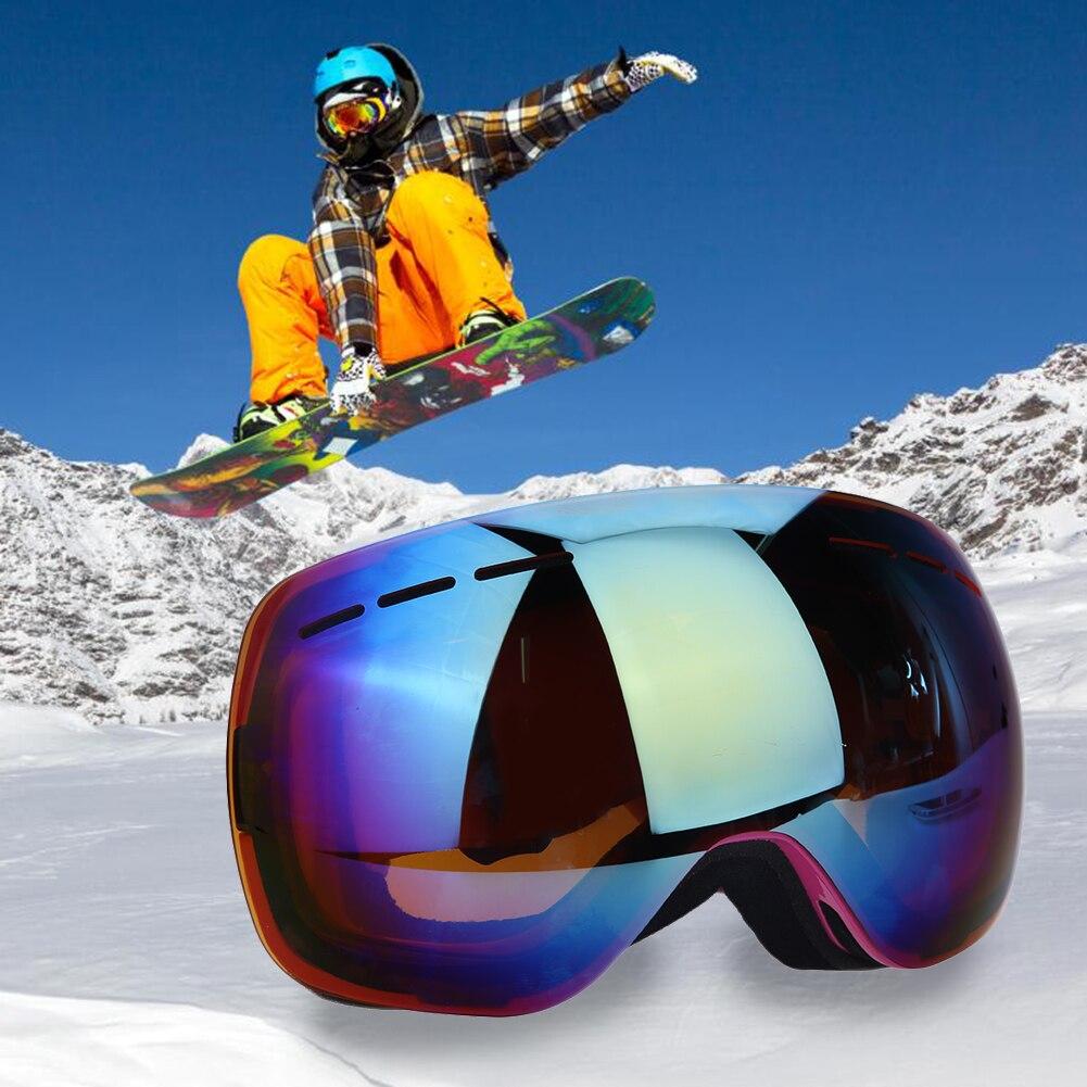 Prix pour Lentille Anti-brouillard lunettes de Ski Professionnels Sphériques Lunettes Masque Snowboard Lunettes Lunettes anti-brouillard grand masque de ski lunettes ski