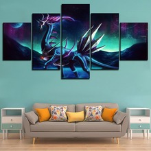 Canvas HD Printed Painting Wall Art Decor 5 Pieces Pokemon Dragon Animation Poster For Modern Home Decorative Children Room