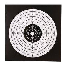 Лист для профессиональной съемки бумага для мишени прочный бумажная цель для стрельбы мишени для стрельбы из лука 100 шт./компл. цель ружья 14X14 см; Прямая поставка