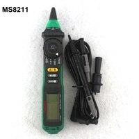 Mastech ms8211 نوع القلم الرقمي المتعدد مع ncv اختبار عدم الاتصال dc ac 600 فولت الفولتميتر أوم متر متعدد تستر multimetro