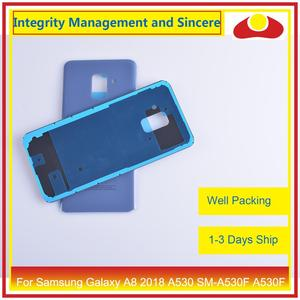 Image 5 - 50Pcs/lot For Samsung Galaxy A8 Plus 2018 A730 SM A730F A730F Housing Battery Door Rear Back Cover Case Chassis Shell A8+ Cover