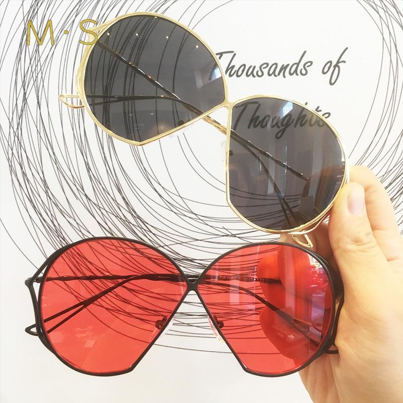 MS Sunglasses 2018 Luxury Cat Eye Sunglasses Women Brand Designer Retro Vintage Sun Glasses Women Female Ladies Sunglass Mirror