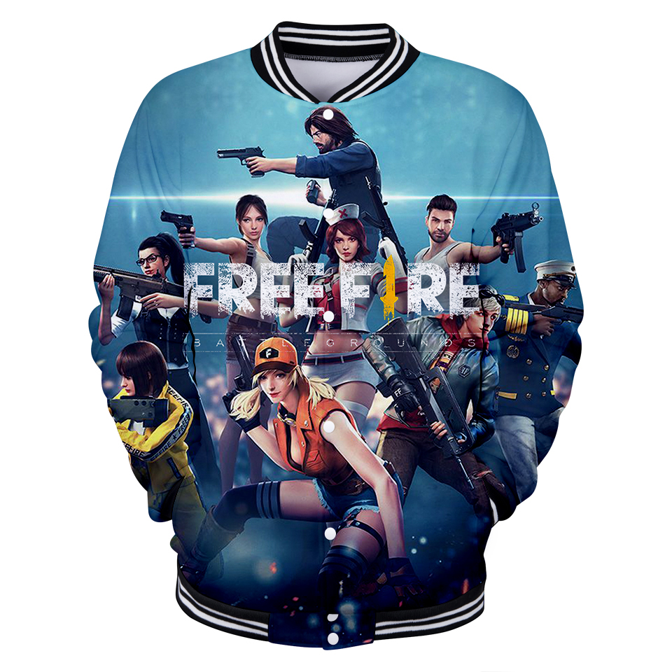 780cc8641 US $13.48 41% OFF|Free Fire Shooting Game 3D Fashion Baseball Jacket 2018  Autumn Women/Men Popular Jacket Coats Casual Top Jacket Fashion Clothes-in  ...
