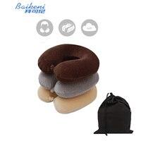 Grade A U Shaped Pillow Memory Foam Pillow Neck U Shape Headrest Car Flight Travel Soft