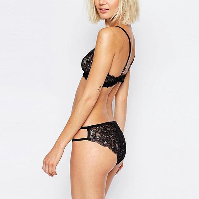 Missomo 2017 New Fashion Women Adjustable Low Waist Braces Sexy Soft Lace Bralette Bra Solid Summer Underwear Bra Sets