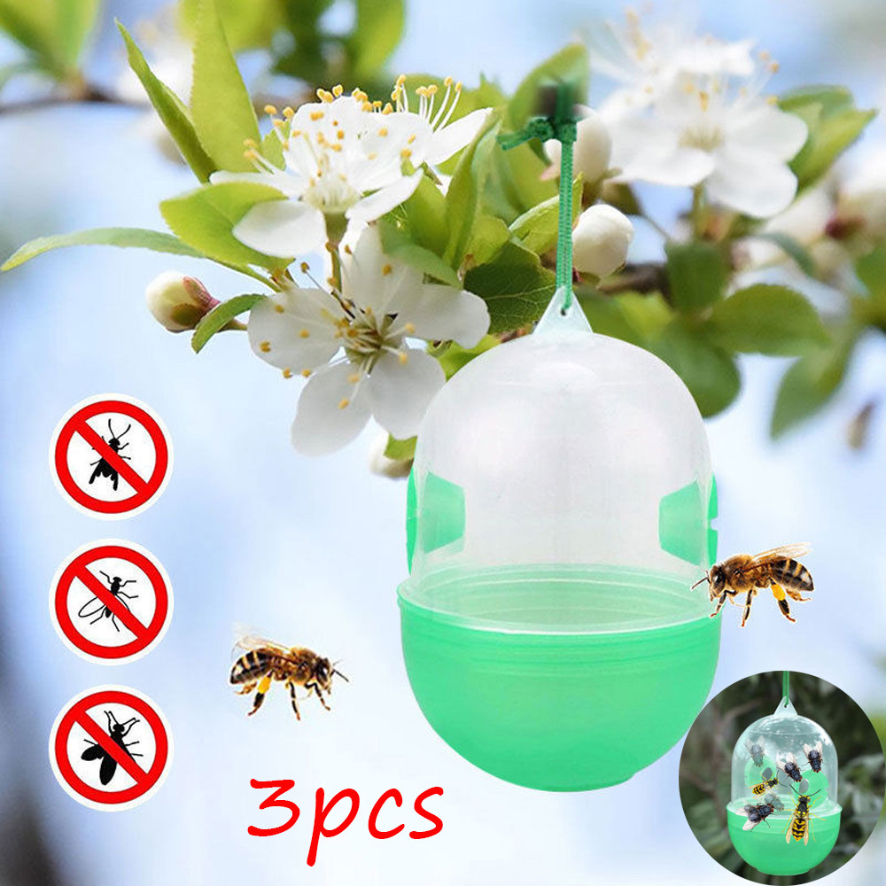 3X Hanging Wasp Trap No Poison Chemical Free Bee Bug Harmless Fly Catcher Insect Armadilha De Mosquito Antimosquitos Trap