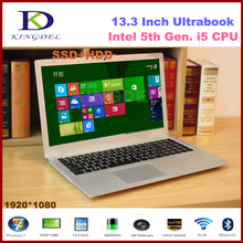 Kingdel 13.3″ Core i5 CPU Laptop Ultrabook Noterbook Computer, 8GB RAM 64GB SSD+1TB HDD, 1080P, WIFI, Bluetooth, Metal Case