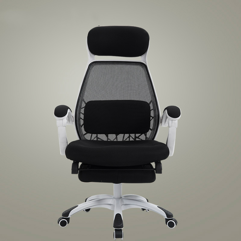 Mesh Cloth Office Chair Lifted Rotated Slidable Staff Meeting Chair With Footrest Breathable Reclining Computer Chair Ergonomic