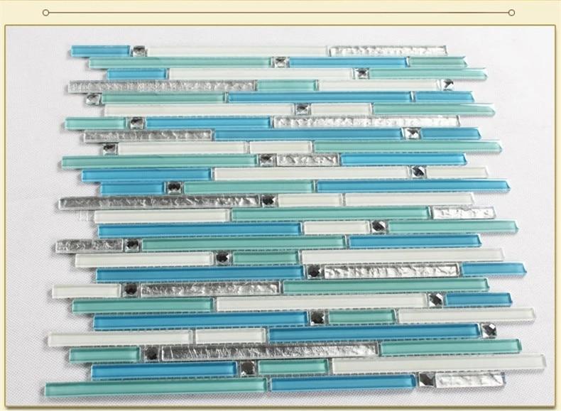 blu mosaico piastrelle del bagno promozione-fai spesa di articoli ... - Blu Piastrelle Del Bagno Mosaico