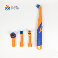 New Super Sonic Scrubber With Household All Purpose 4 Brush Heads Furmins