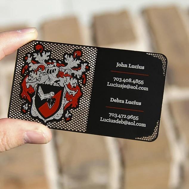Black Metal Business Card Blank Sublimation Metal Business Card