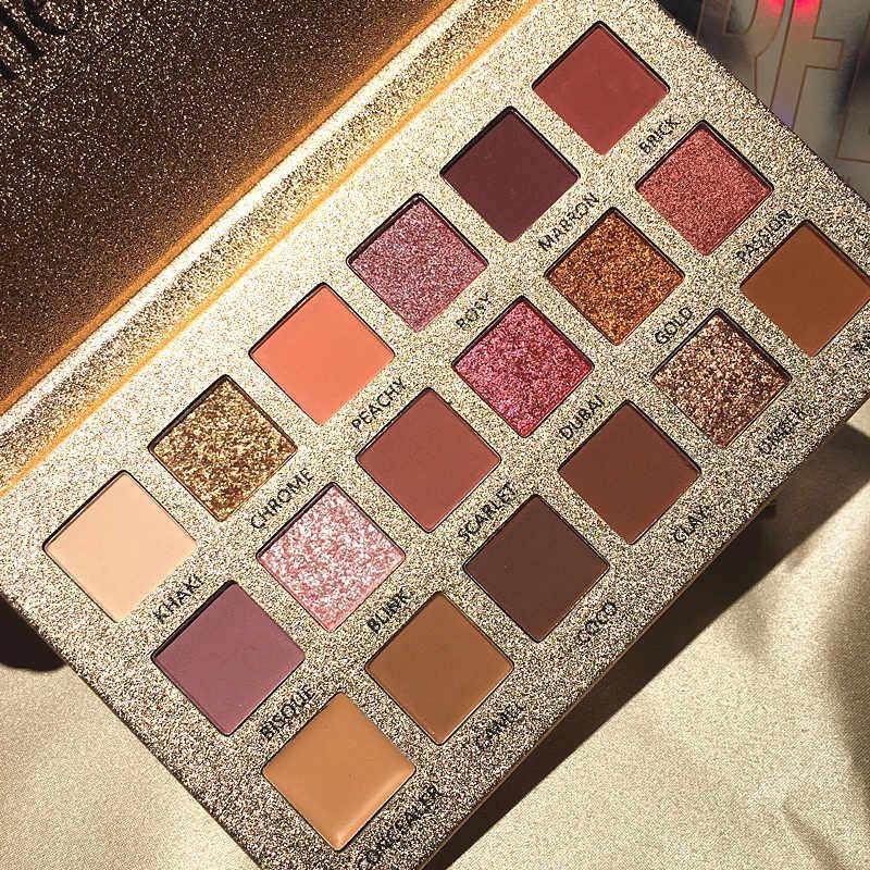 Kecantikan Mengkilap 18 Warna Glitter Matte Eyeshadow Palet Makeup Glitter Pigmen Smoky Eyeshadow Palet Tahan Air Kosmetik TSLM2