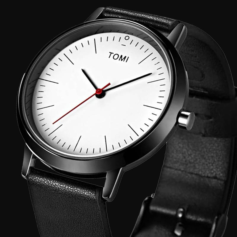 New Top Brand TOMI Men s Watches Sports Quartz Leather strap Casual Watch Women Wristwatch Ultra