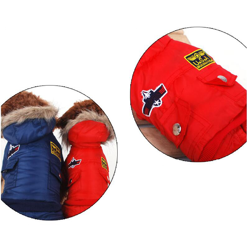 Aliexpress Buy Thickened Cotton Fashion Dog Coat Pet Clothes For Big Of USA Air Force Design From Reliable Designer Suppliers On The