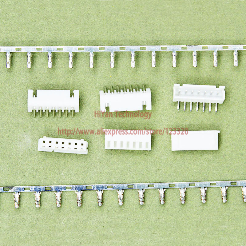 (100sets/lot) connector XH2.54 7Pin 90degrees Pitch:2.54MM 0.1inch 7AW Pin Header + Terminal + Housing XH2.54-7P